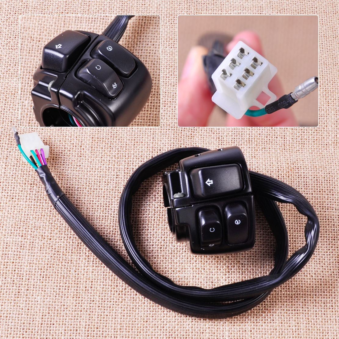 1 034 handlebar ignition turn signal switch wire harness fit motorcycle 1 handlebar ignition kill switch wiring harness fits for harley davidson softail dyna sportster 1200 883 v rod Â