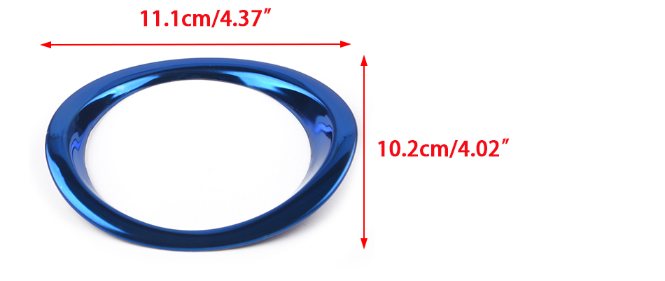 4X Stainless Dashboard Air Outlet Frame Cover Trim Blue For Toyota RAV4 2013-16