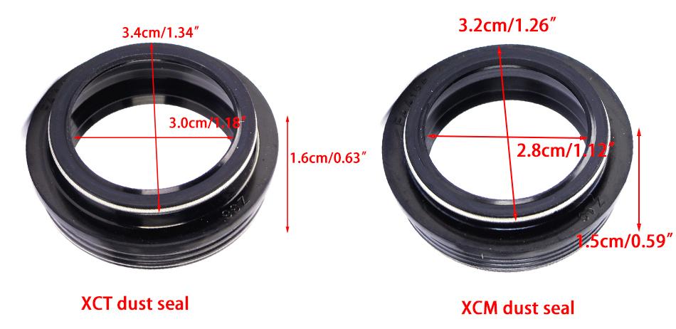 """SR Suntour XCT//NVX//XCR 24/"""" Forks 28mm Dust Seal 1pk."""