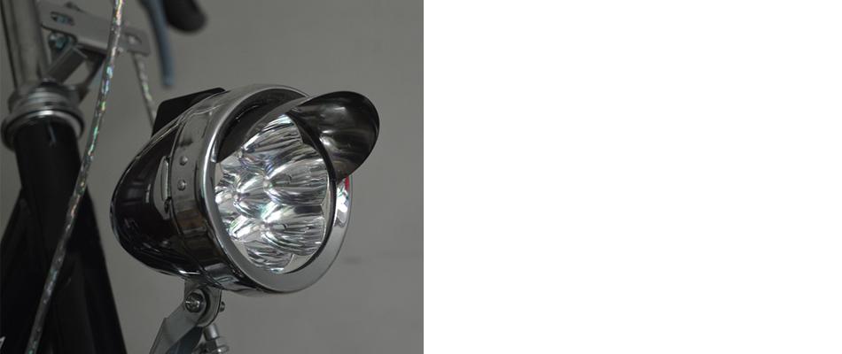 Universal Vintage Bicycle LED Light Bike Retro Front Fog Light Lamp Headlight