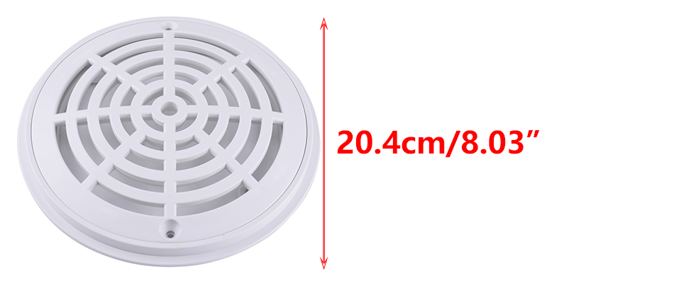 8 inch swimming pool universal main drain cover white high - Swimming pool main drain cover replacement ...