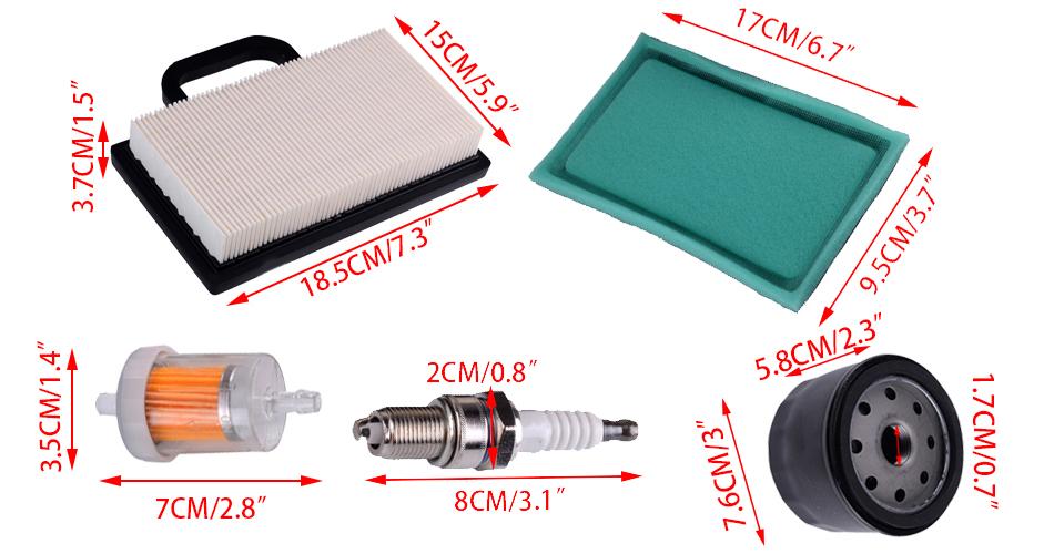 Spark Plug Replacement Cost >> Oil Fuel Air Filter Spark Plug for John Deere D130 D140 ...