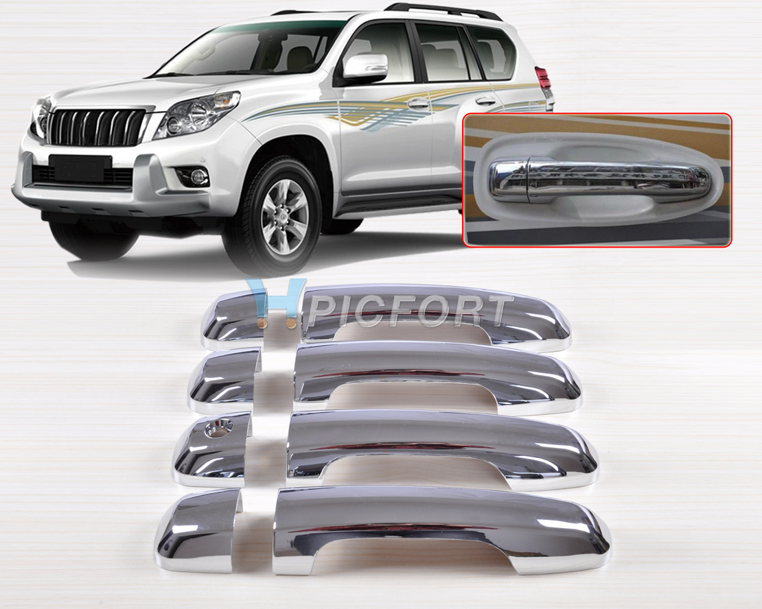 Chrome Side Door Handle Base Bowl Covers For 2003 2004 2005 2006 Toyota Kluger