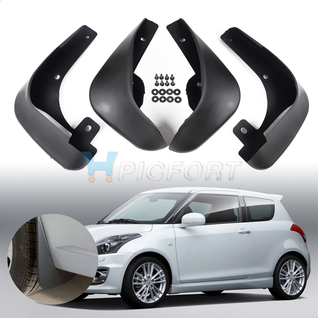 Details about Car Fender Mud Flaps Splash Guards Mudflaps For Suzuki Swift  2011 2012 2013