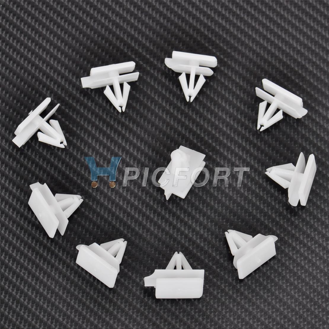 20x White Rocker Moulding Nylon Clip Retainer Fastener 10323057 For GMC Pontiac