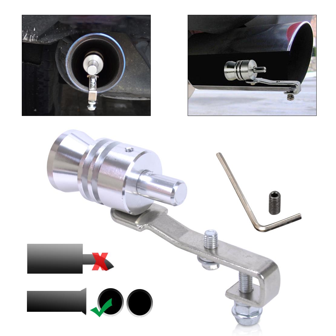 Car Turbo Sound Whistle Muffler Pipe Auto Blow off Valve Simulator S//M//L//XL