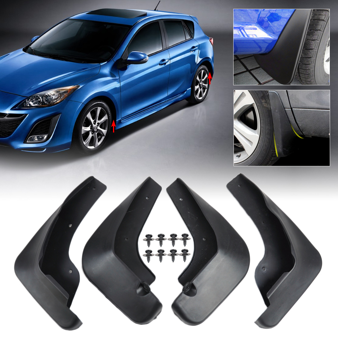 Image Is Loading MUDGUARD For 2009 2010 2011 2012 MAZDA 3