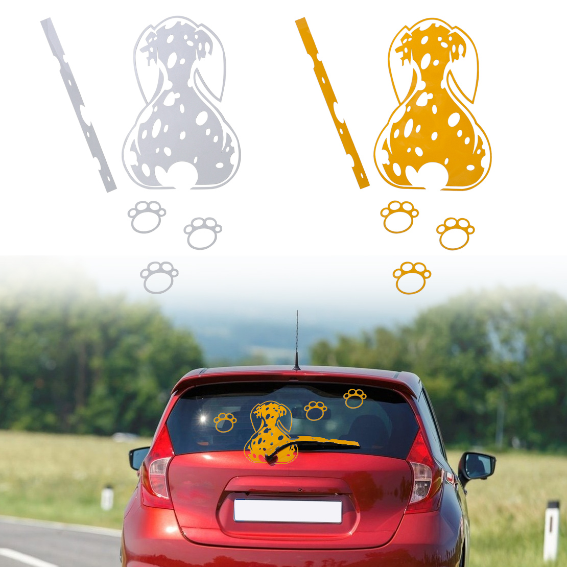 Details about funny wagging tail pet dog car sticker decals for car windshield window wiper