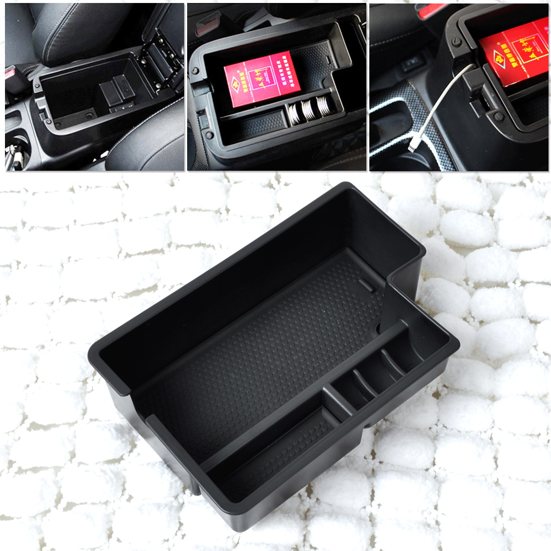 For Mitsubishi Outlander Sport//ASX// RVR 2013-2016 Car Armrest Storage Glove Box