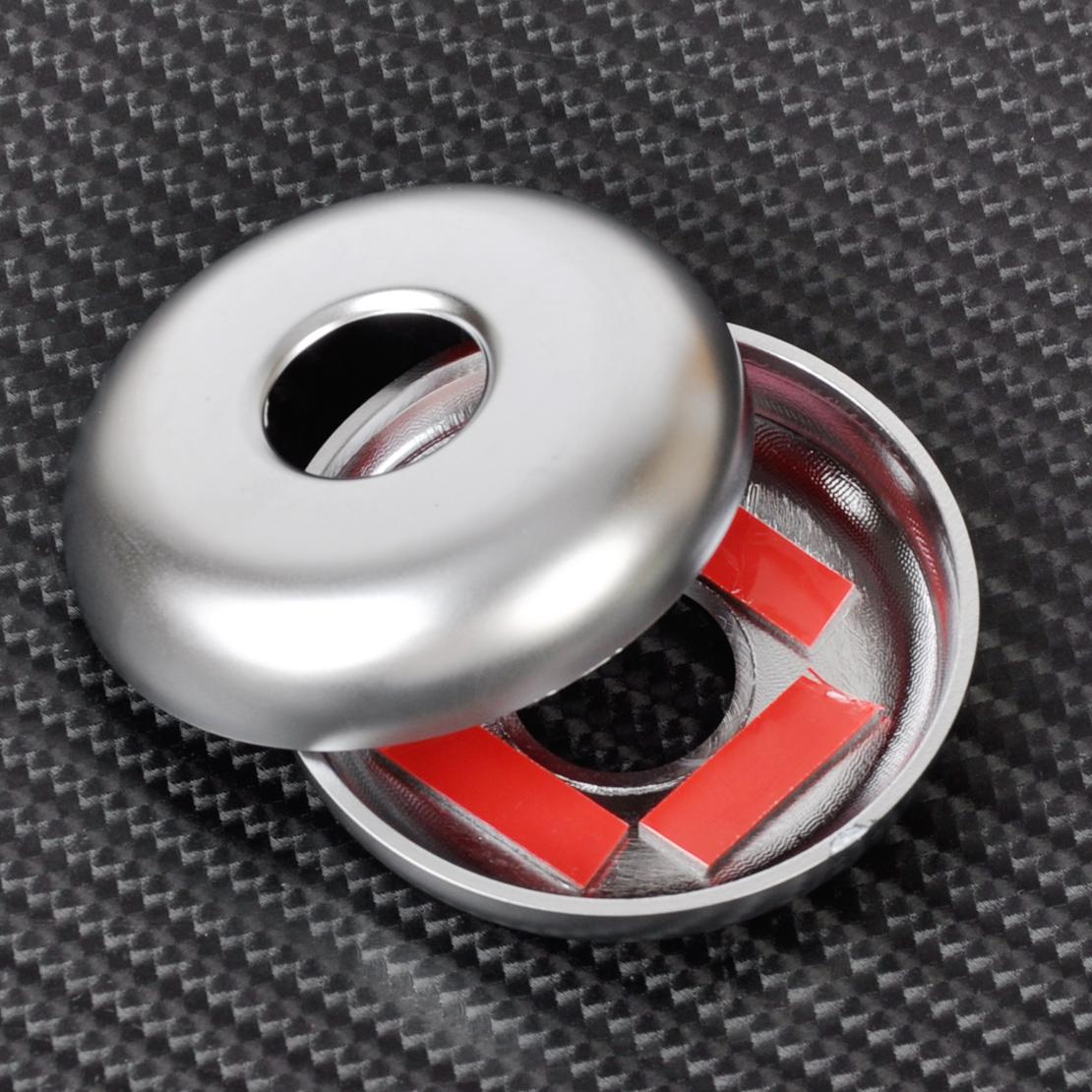 6ST Chrom Vorne Sitz Kopfstütze Stange Abdeckungs für BMW F30 F31 F36 3 4 Series