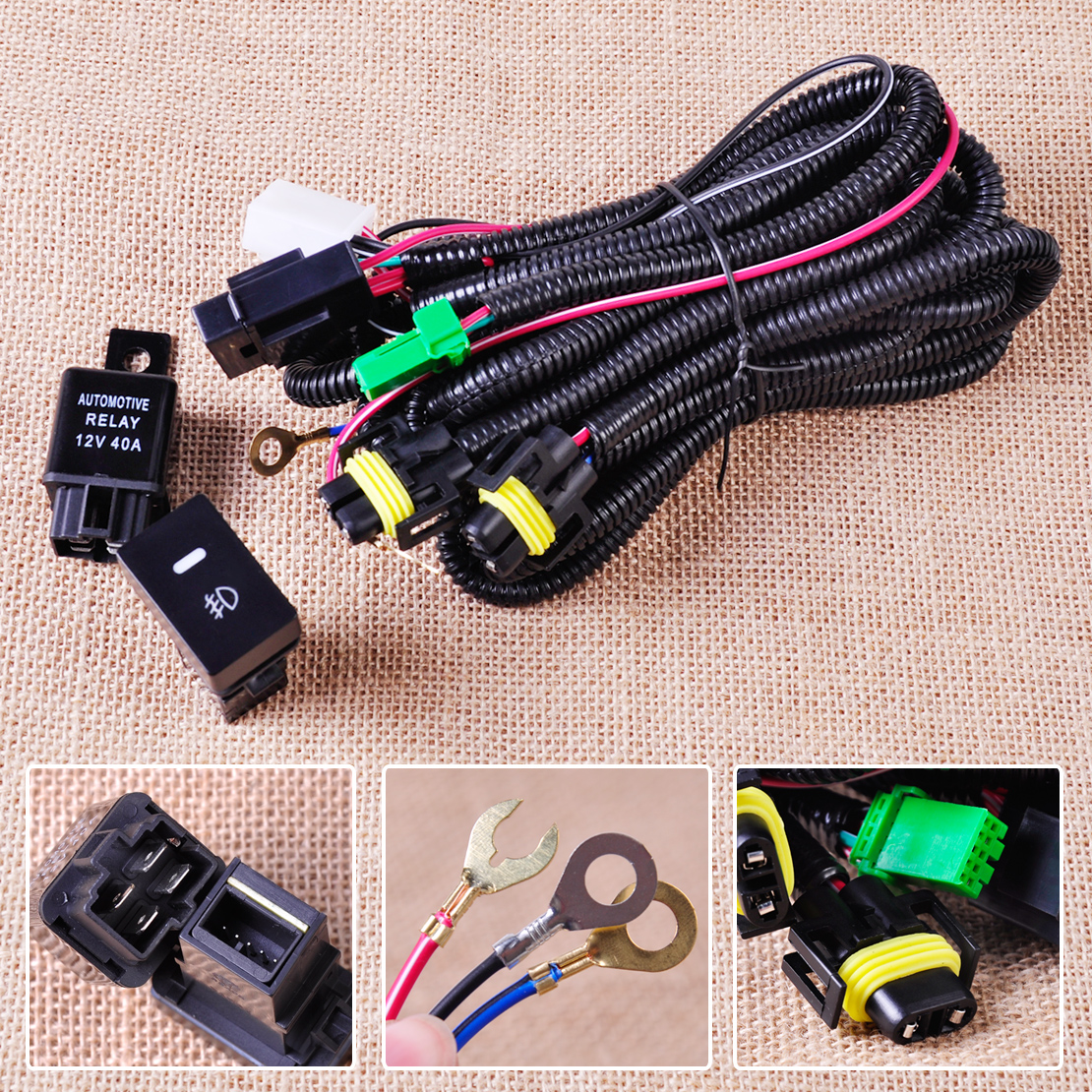 NEW Wiring Harness Socket+ Switch for H11 Fog Light Lamp Ford Focus Acura  Nissan 728360607010 | eBay
