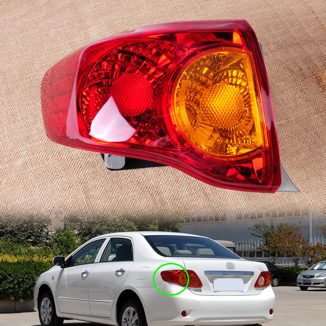 Details About Rear Left Outside Tail Light Taillamp Brake For Toyota Corolla 166 50863l