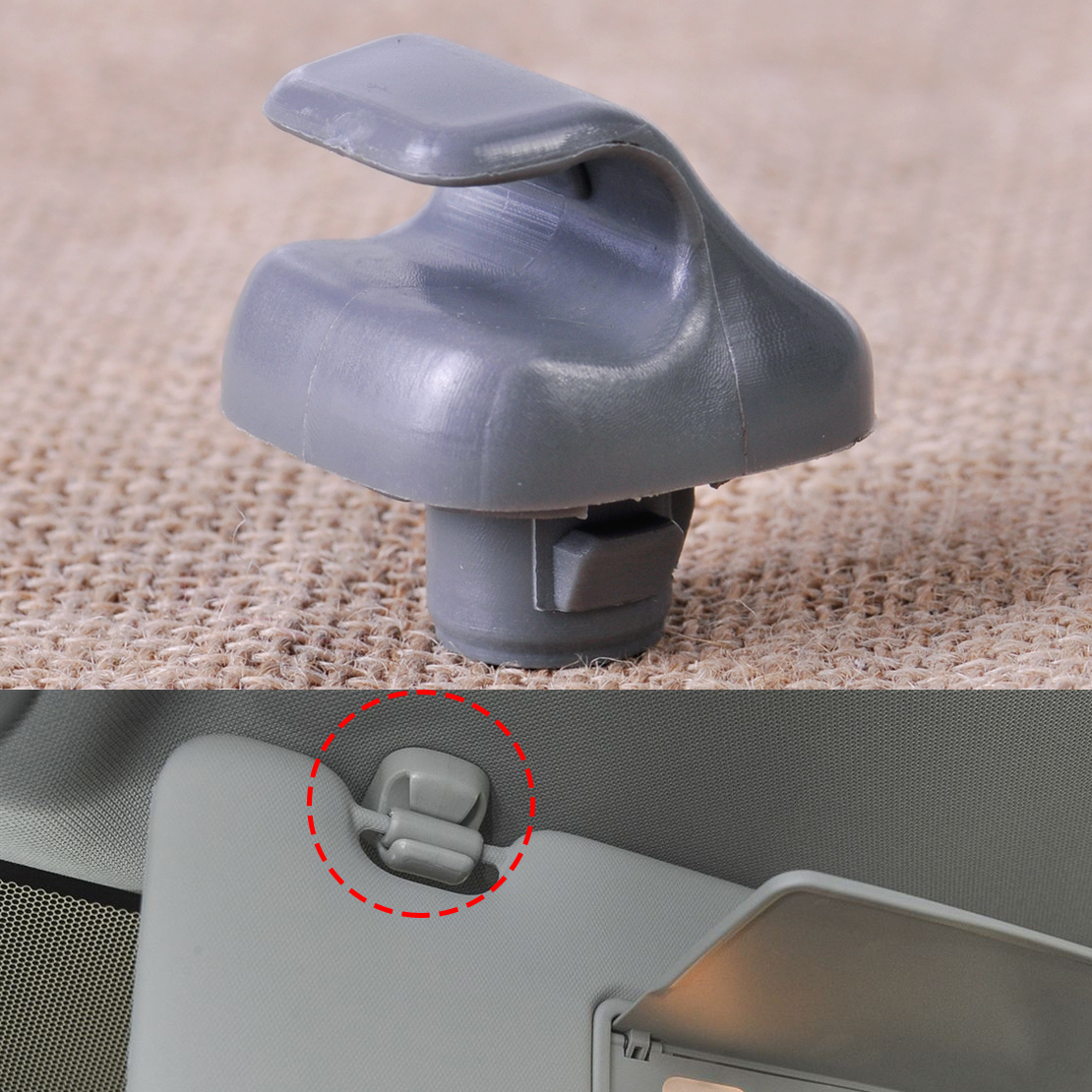 Details about 88217S01A01ZA Grey Sun Visor Sunvisor Clip Hook Fit Honda  Accord Civic CR-V New 3ac237206fd