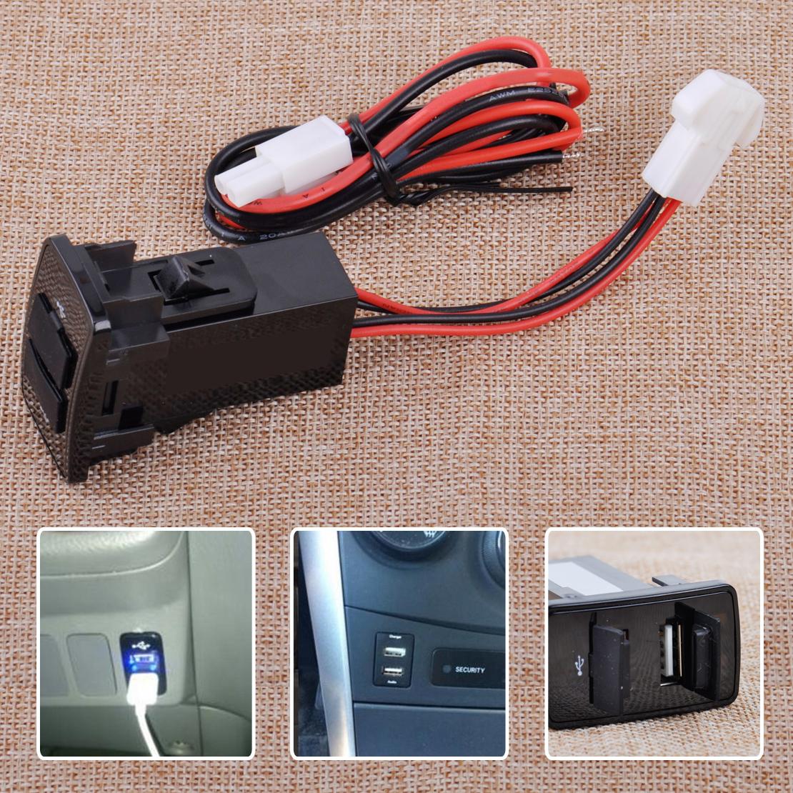 USB Einbausteckdose Ladegerät Doppel Stecker Für Honda