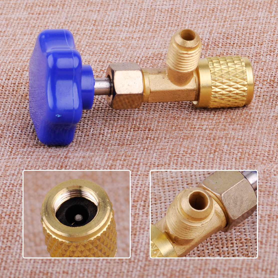 1//4 SAE Car Can Tap Valve Refrigerant Bottle Opener Fit For R22 R134a R410A Gas