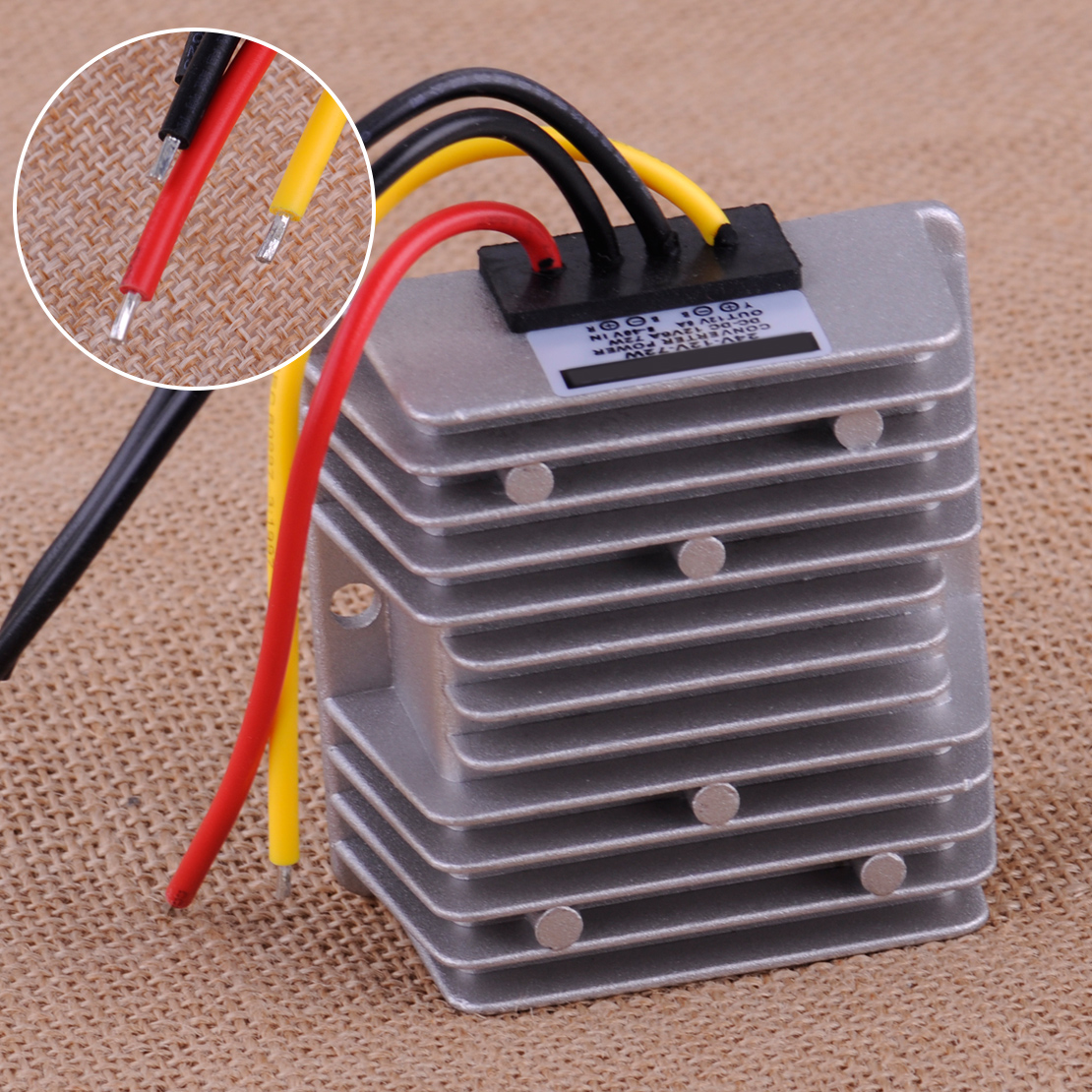 Waterproof Vehicle Automatic Voltage Stabilizer Regulator DC8-40V to 12V 6A 72W Automotive