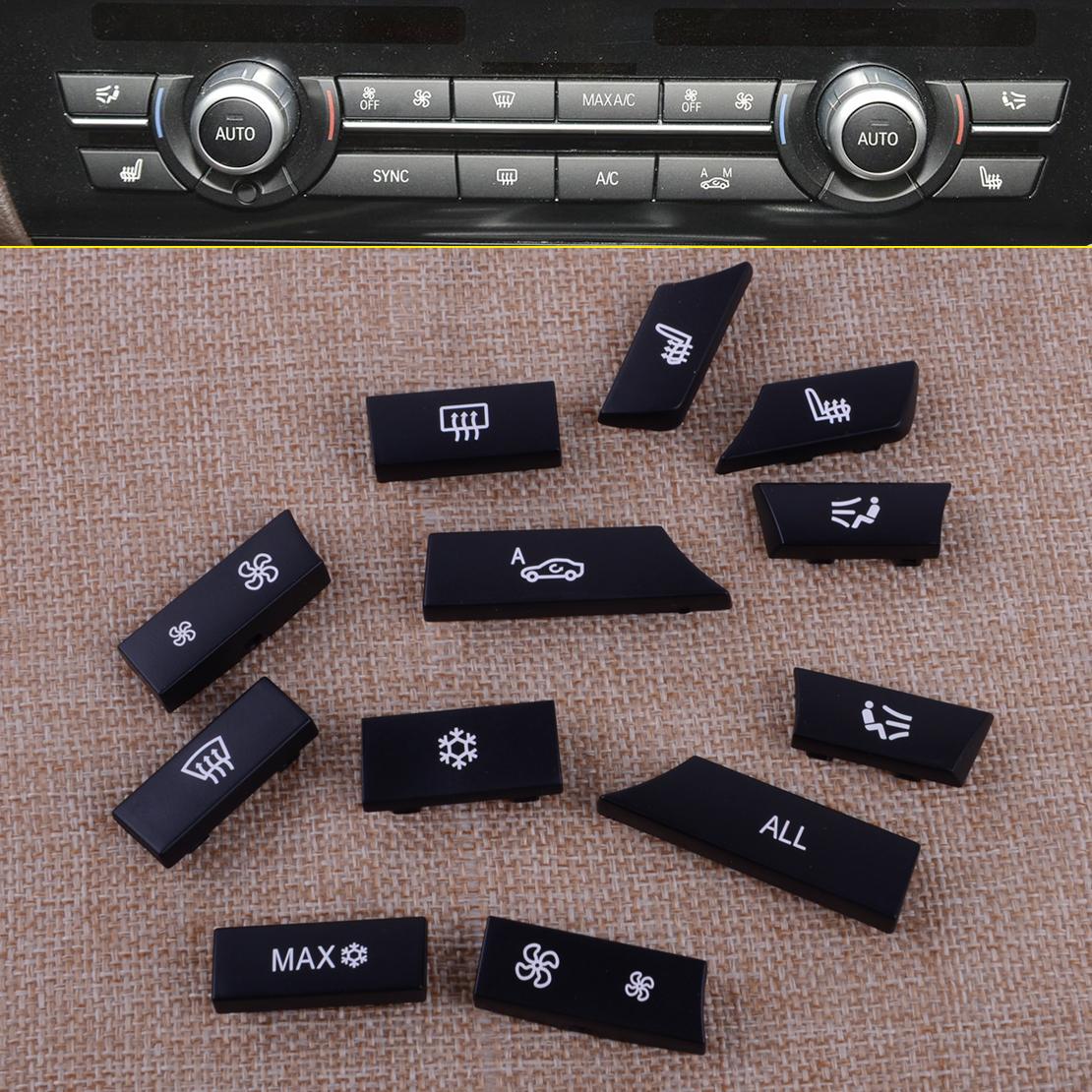 12 Taste Lüftung Klimabedienteil Knopf Kit Fit für BMW 5 6 7 F10 F01 F12 OG