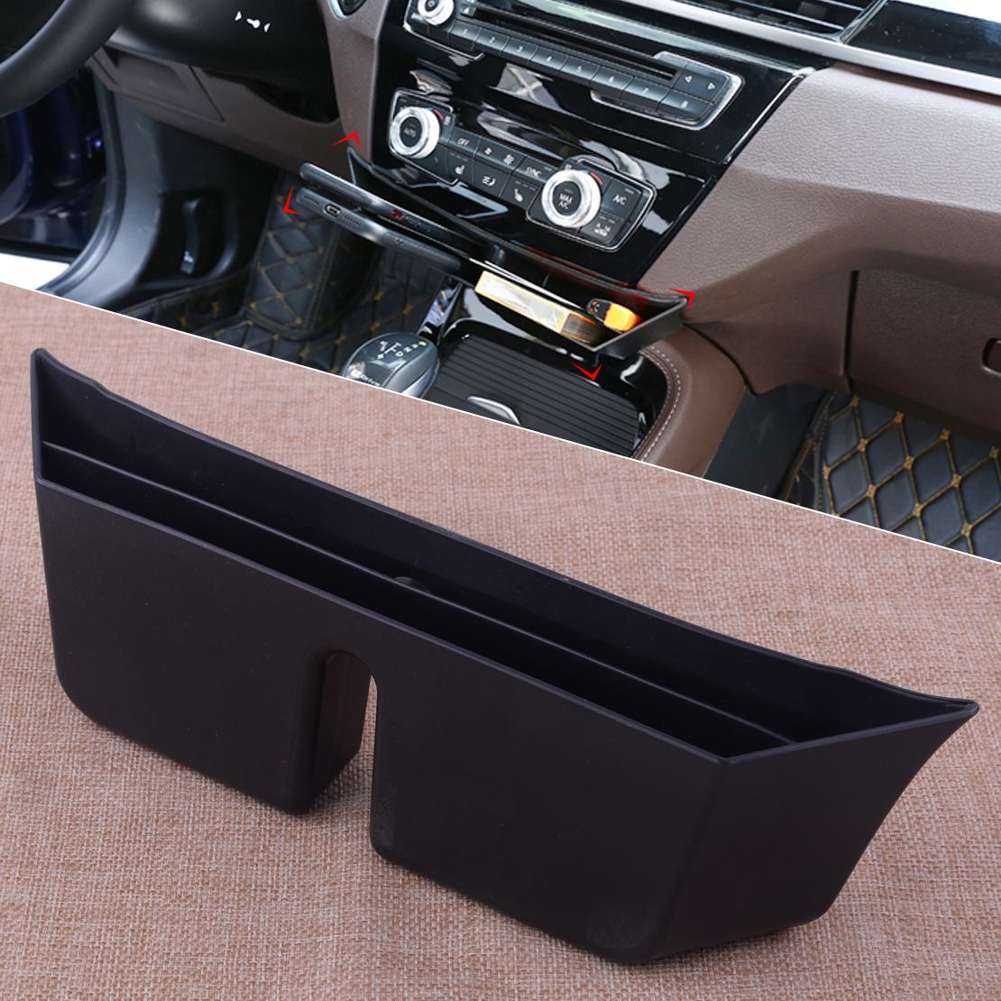 Car Black Abs Multifunction Center Console Storage Box Holder Case Organizer Fit For Bmw X1 F48 2016 2017 2018 Interior Accessories Cbib Cl