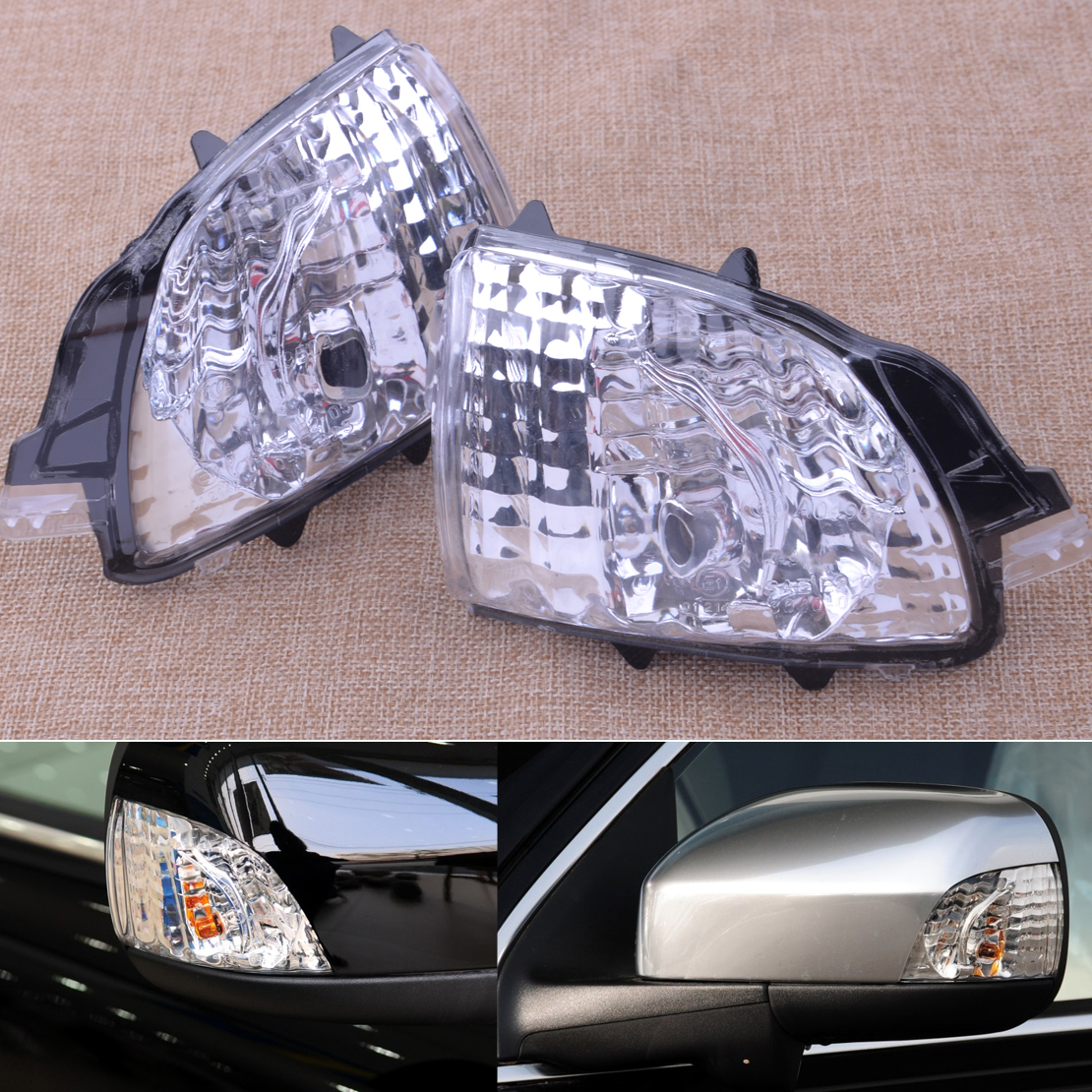L Side Wing Mirror Turn Signal Indicator Lens for VOLVO S60 S80 V70 C30 Pair R
