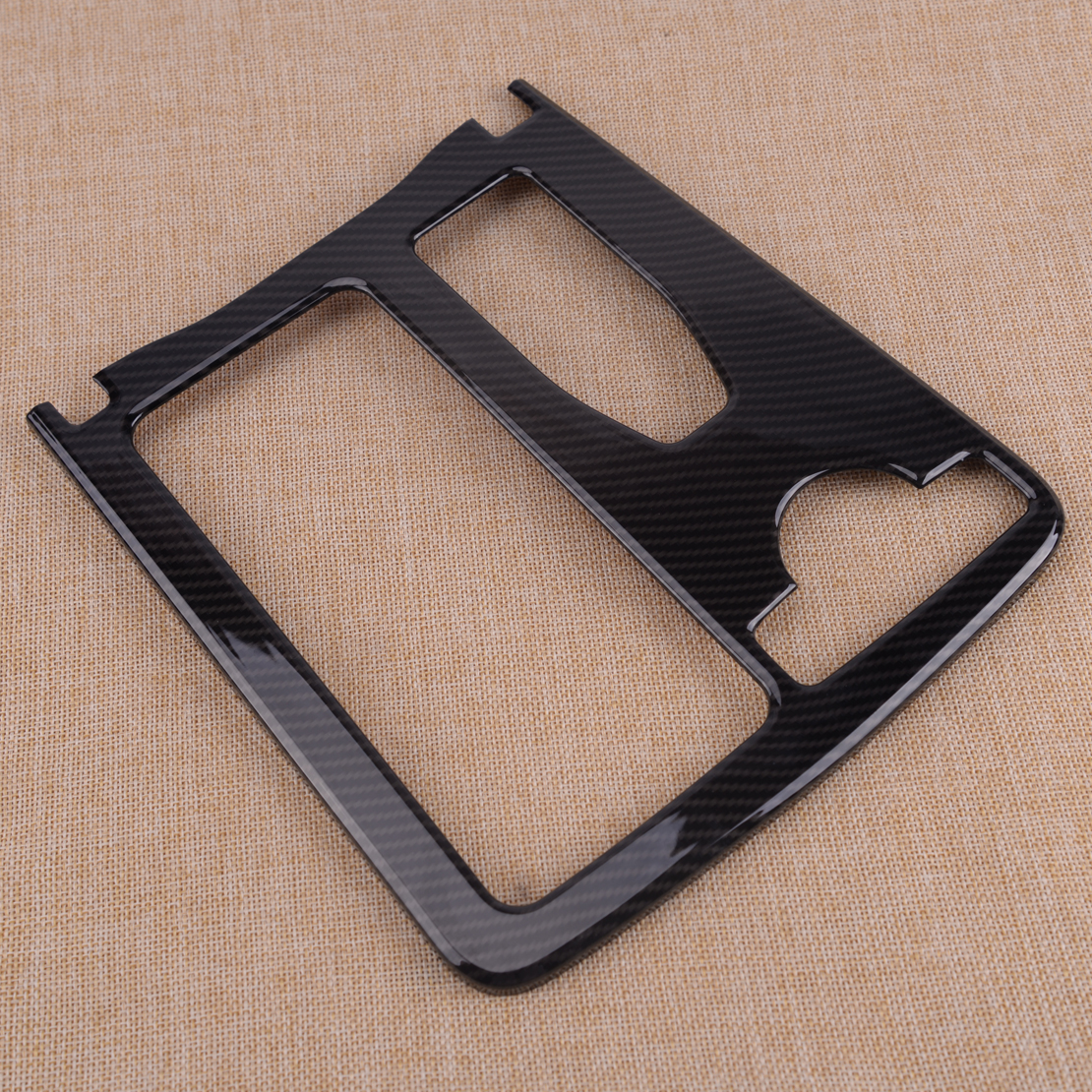 Carbon Fiber ABS Water Cup Holder Frame Cover fit for Mercedes Benz C Class W204
