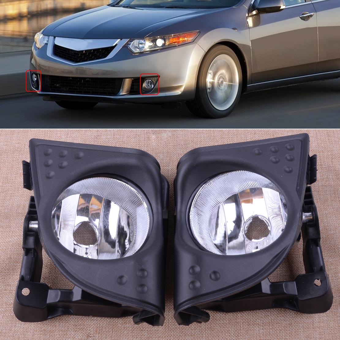 LH+RH/Set Foglight Fog Light Lamp Cover Fit For Acura TSX