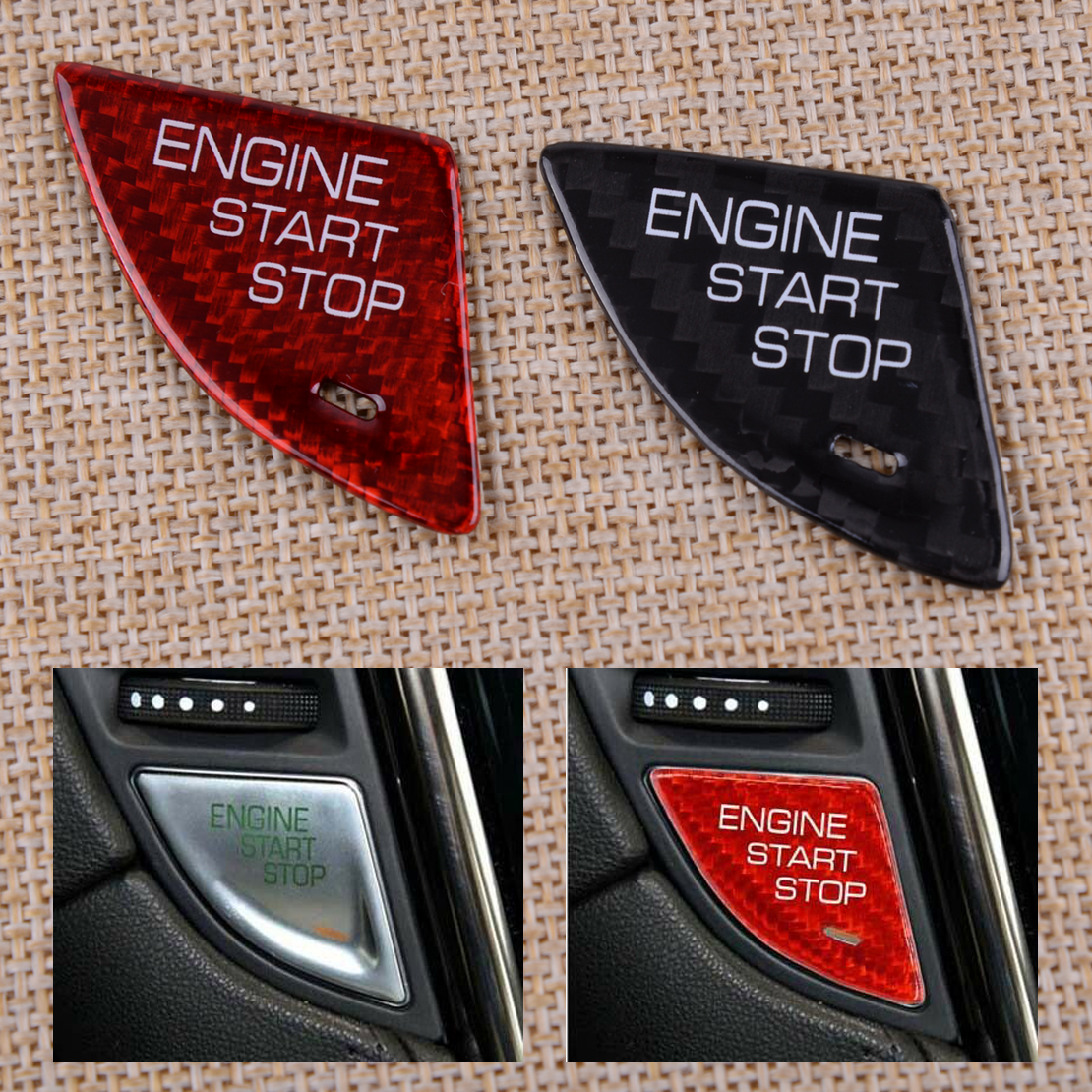 ABS Engine Start Stop Switch Button Cover Red/Black Fit