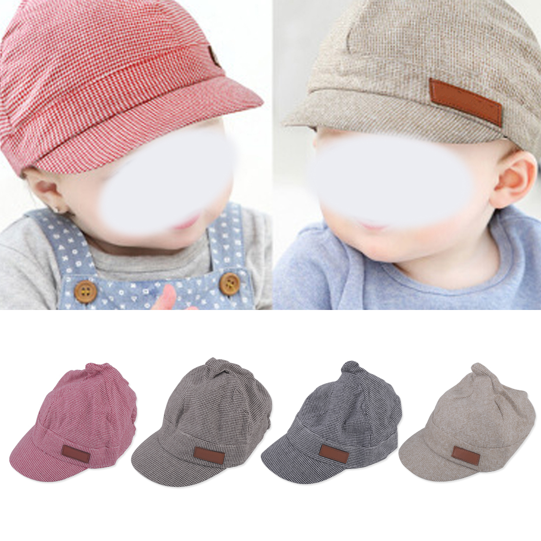edaef910487 Details about Cute Toddler Kids Infant Sun Cap Baby Girls Boys Beach Cotton  Beret Baseball Hat