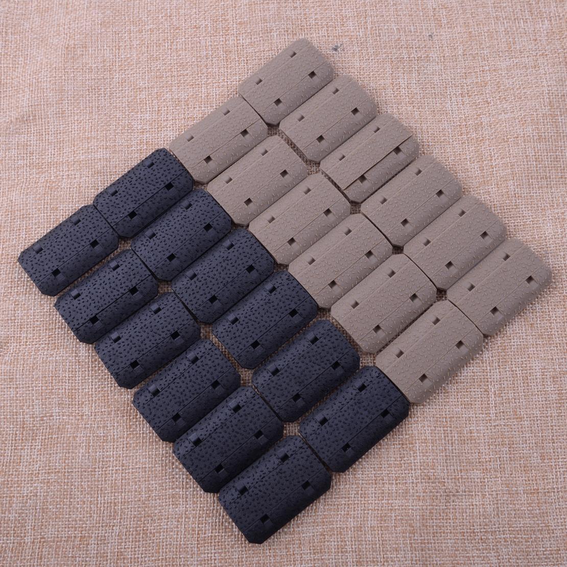 12Pcs Tactical Type 2 Rail Covers fit M-lok Hand Guard Panel Grip Mount