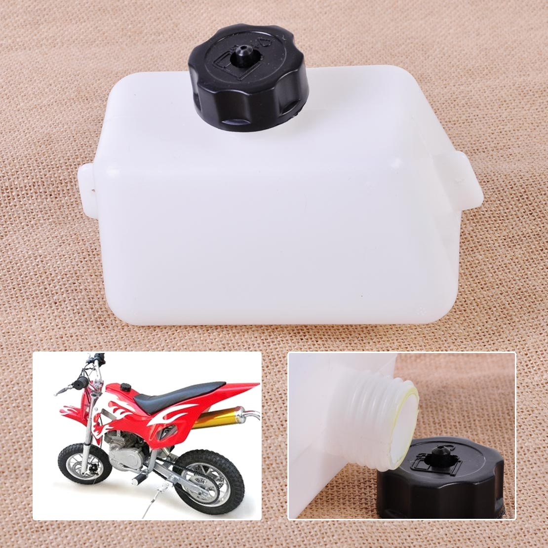 Podoy 49cc Mini Gas Tank for 2 stroke 47cc Atv Quad Pocket Bike Gas Fuel Tank