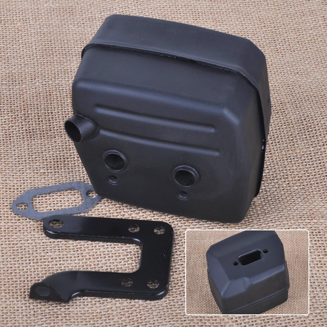 New Muffler With Bracket Fits Husqvarna 61 266 268 272 Fits OEM 503 47 69-01