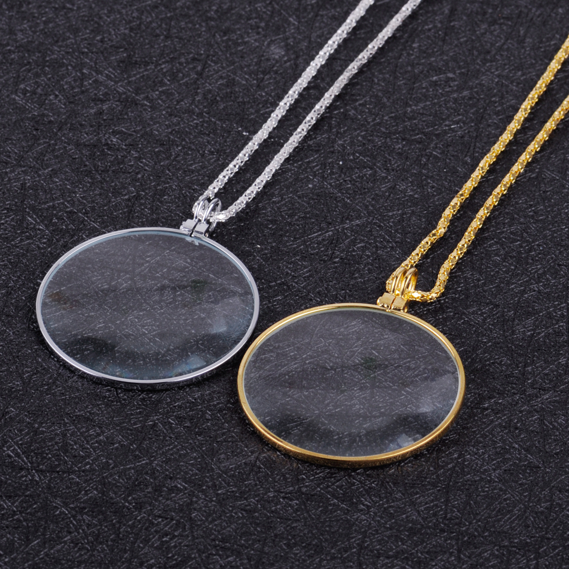 ... Pendant Gift Silver Intl. Useful Monocle Lens Necklace 5x Magnifier Coin Magnifying Glass Source Women Fashion 5 Times Magnifier Magnifying