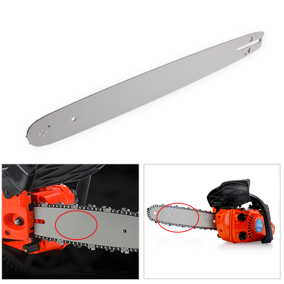 """18/"""" Chain Saw Guide Bar .325/"""" .050/"""" 72 DL For Husqvarna 336 340 345 350 351 353"""