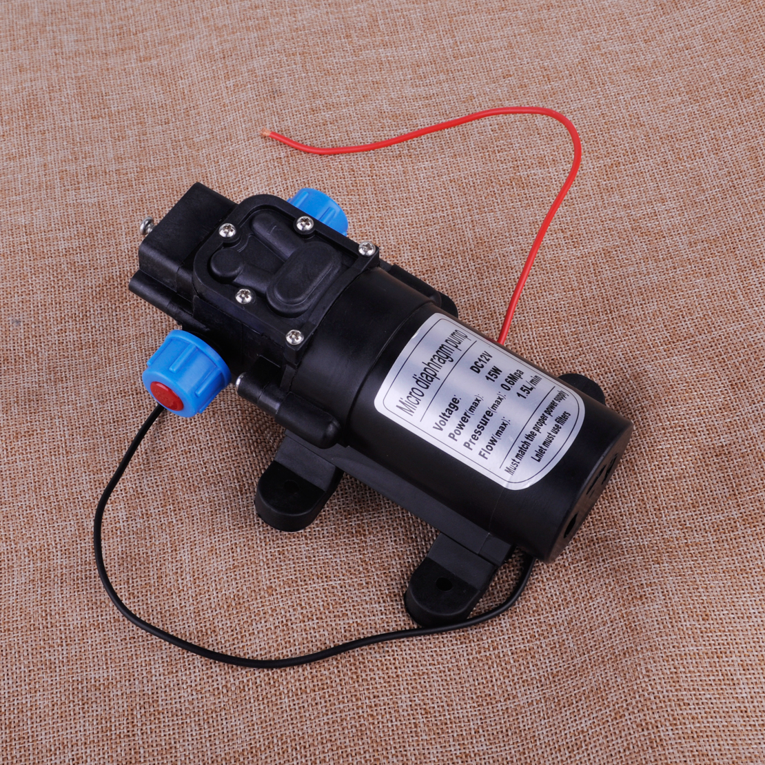 DC12V 15W Selbstansaugend Hoher Druck Membran Wasserpumpe Druckpumpe Gartenpumpe