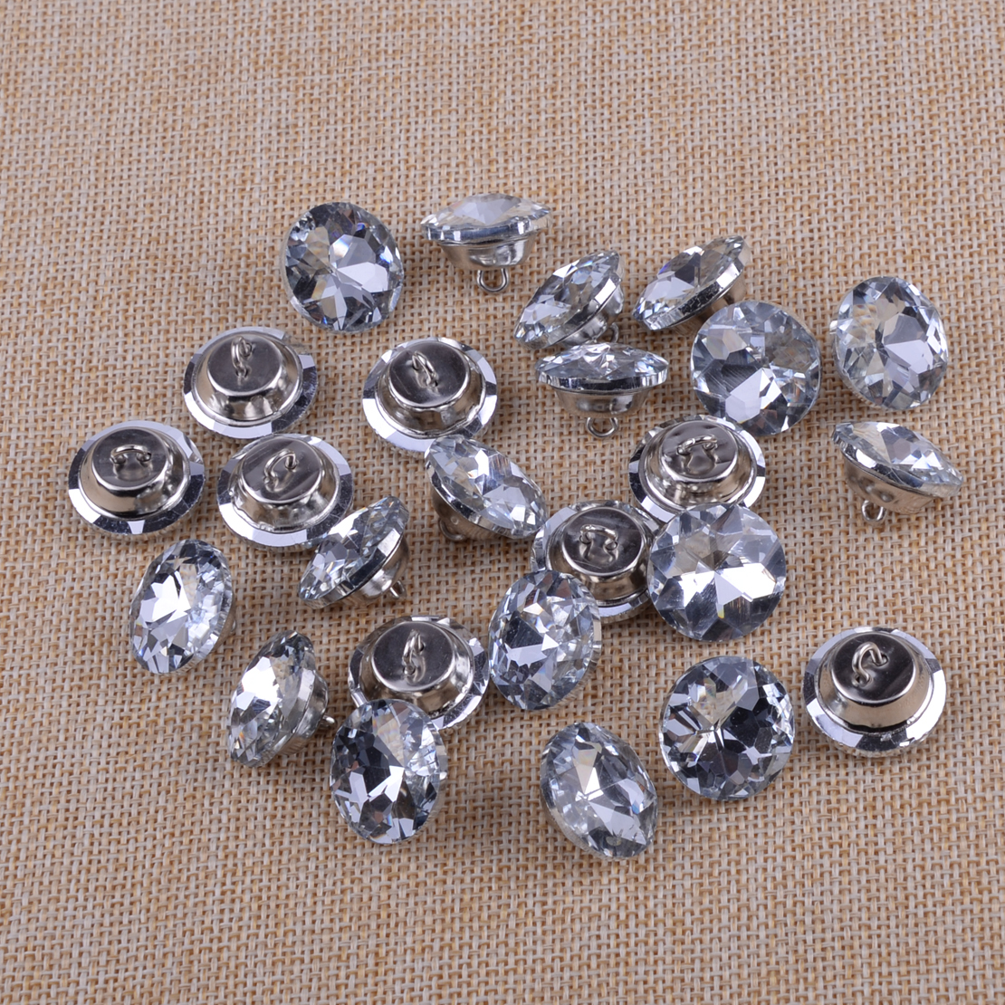 25pcs 20mm Crystal Buttons Sofa Sewing Buttons Upholstery Decoration