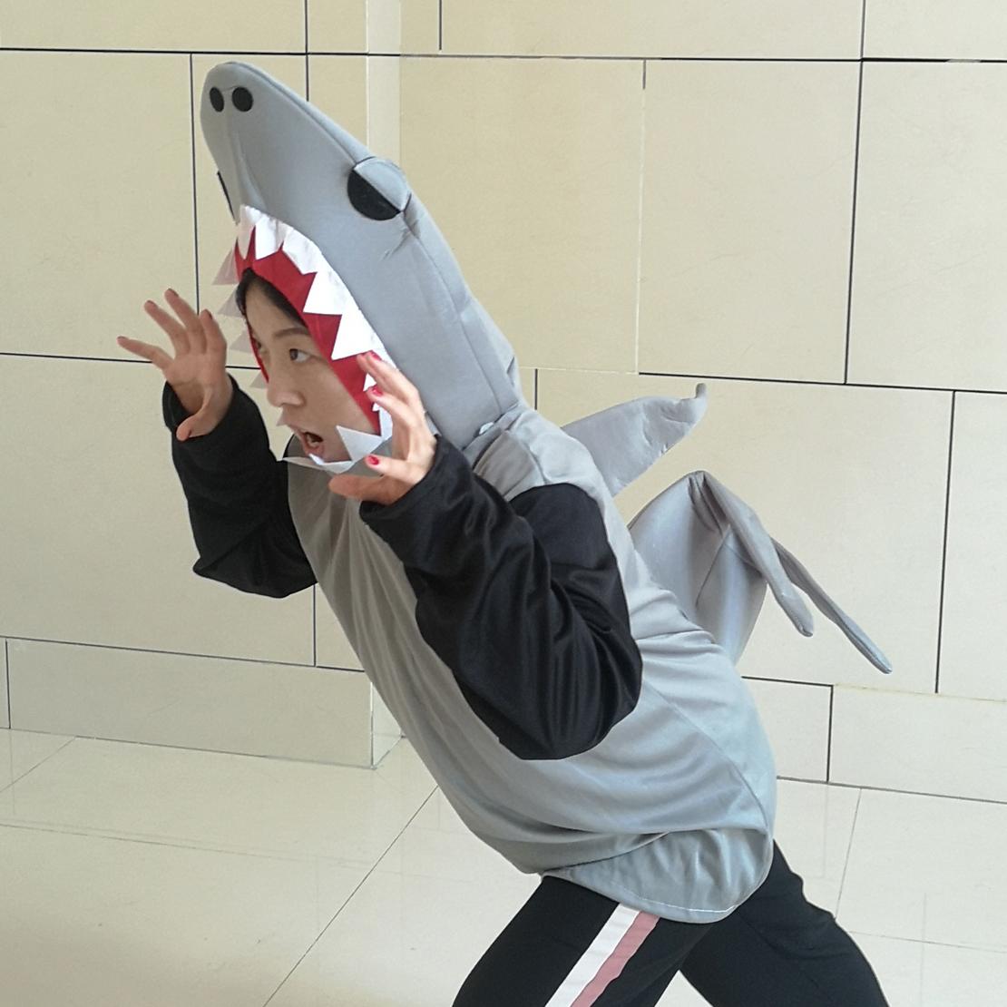 Hai Kostüm Fisch See Tier Kreatur Kostüm Outfür Karnevalskostüm Shark Neu