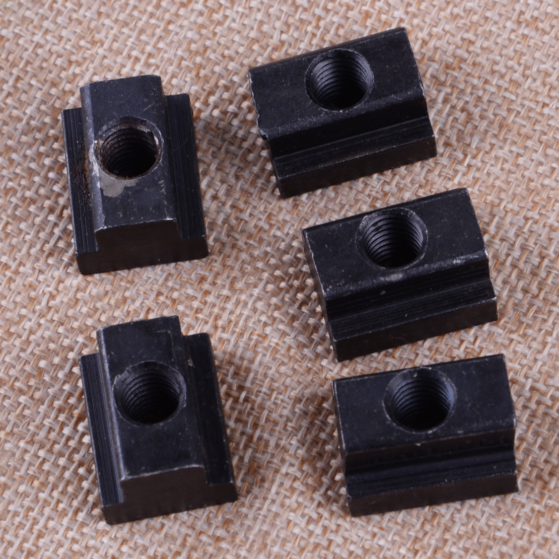 5Pcs Black Steel Oxide Finish T Slot Nuts M8 Threads Machine Tool for T-Slot Aluminum Extrusions to Connect Other Parts Fricgore Spare Parts